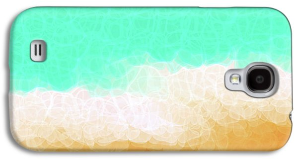 """textured Art"" Galaxy S4 Cases - Beach Scene One Galaxy S4 Case by Mark Lawrence"