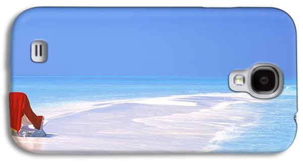 Beach Towel Galaxy S4 Cases - Beach Scenic The Maldives Galaxy S4 Case by Panoramic Images