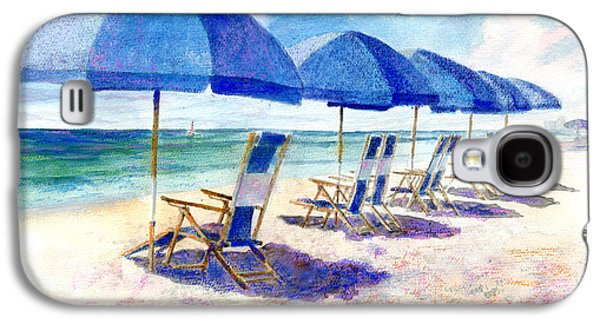 Beach Landscape Galaxy S4 Cases - Beach umbrellas Galaxy S4 Case by Andrew King