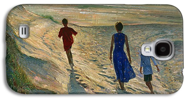 Beaches Galaxy S4 Cases - Beach Walk Galaxy S4 Case by Timothy Easton