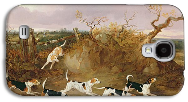 Beagles In Full Cry Galaxy S4 Case by John Dalby