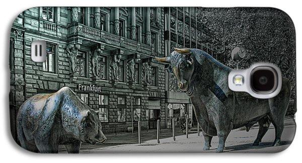 bear and bull Frankfurt Galaxy S4 Case by Joachim G Pinkawa