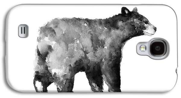 Bear Watercolor Drawing Poster Galaxy S4 Case by Joanna Szmerdt