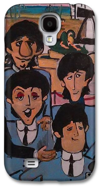 Beatles Galaxy S4 Cases - Beatles At The Deauville Galaxy S4 Case by Gregory McLaughlin