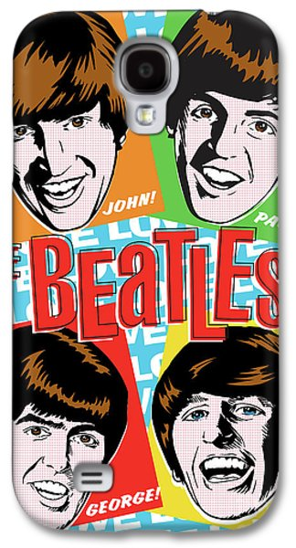 Beatles Galaxy S4 Cases - Beatles Pop Art Galaxy S4 Case by Jim Zahniser