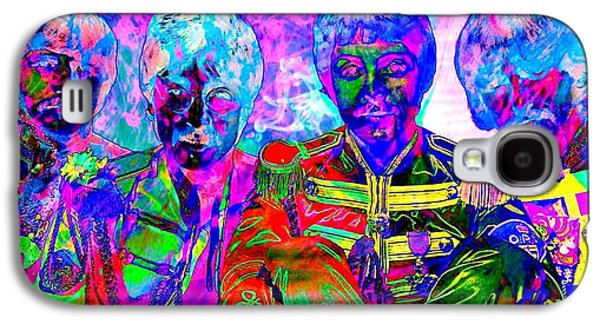 Abstract Digital Mixed Media Galaxy S4 Cases - Beatles Galaxy S4 Case by Richard Ray