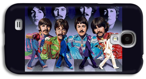 Beatles Galaxy S4 Cases - Beatles - Walk Away Galaxy S4 Case by Ross Edwards