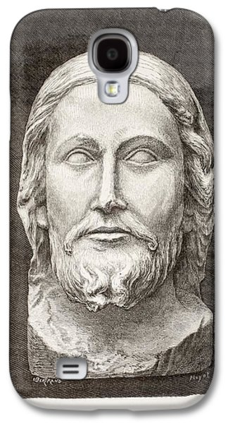Statue Portrait Drawings Galaxy S4 Cases - Beau-dieu D Amiens. The Beautiful God Galaxy S4 Case by Ken Welsh