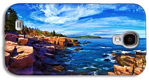 Coastal Maine Galaxy S4 Cases - Beautiful Day at Acadia - Painterly Galaxy S4 Case by Bill Caldwell -        ABeautifulSky Photography