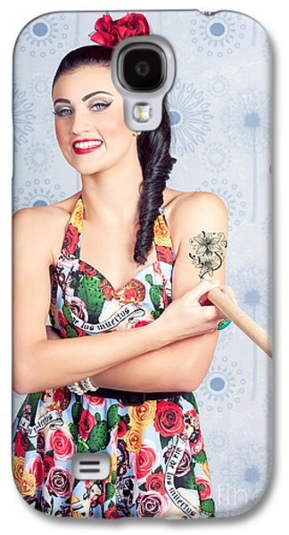 Beautiful Day Of The Dead Girl Drawing Tattoo Galaxy S4 Case by Jorgo Photography - Wall Art Gallery