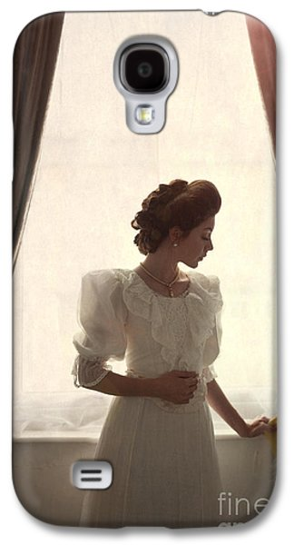 Contemplative Photographs Galaxy S4 Cases - Beautiful Edwardian Woman At The Window Galaxy S4 Case by Lee Avison