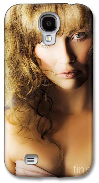 Strapless Dress Galaxy S4 Cases - Beautiful fashion model Galaxy S4 Case by Ryan Jorgensen