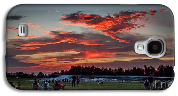Surreal Landscape Galaxy S4 Cases - Beautiful Fourth Of July Sunset Galaxy S4 Case by Robert Bales
