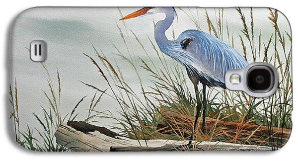 Beautiful Heron Shore Galaxy S4 Case by James Williamson