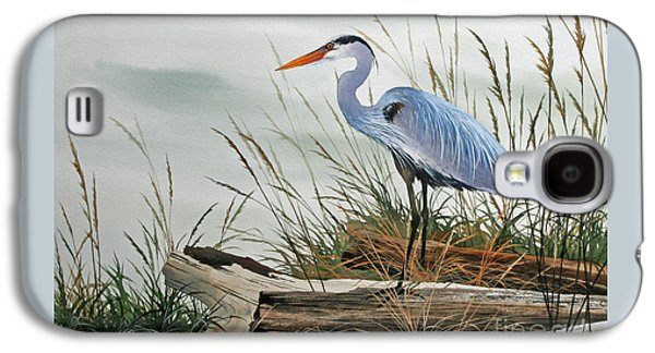 Framed Galaxy S4 Cases - Beautiful Heron Shore Galaxy S4 Case by James Williamson