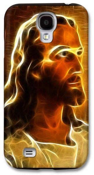 The Church Mixed Media Galaxy S4 Cases - Beautiful Jesus Portrait Galaxy S4 Case by Pamela Johnson