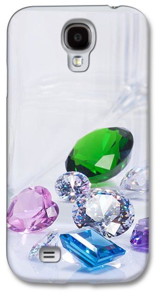 Stones Jewelry Galaxy S4 Cases - Beautiful Jewel Galaxy S4 Case by Atiketta Sangasaeng
