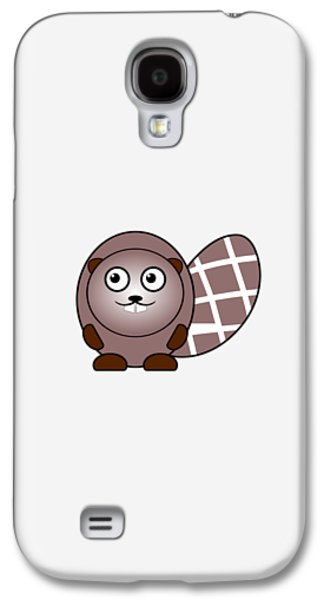 Happy Galaxy S4 Cases - Beaver - Animals - Art for Kids Galaxy S4 Case by Anastasiya Malakhova