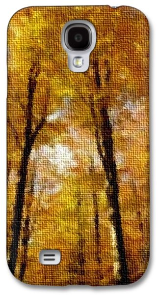 Abstract Digital Pastels Galaxy S4 Cases - Beech Trees In An Autumn Forest H A Galaxy S4 Case by Gert J Rheeders