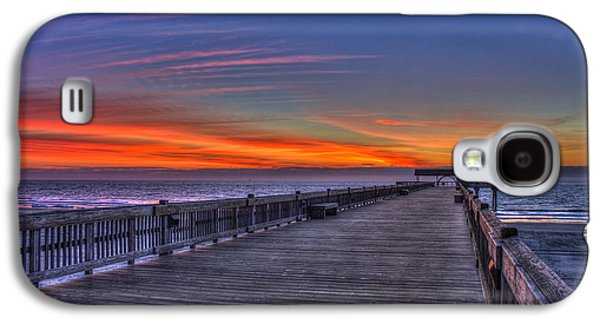 Landscapes Photographs Galaxy S4 Cases - Before The Dawn Tybee Island Pier Galaxy S4 Case by Reid Callaway