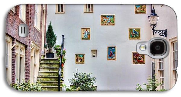 Religious Galaxy S4 Cases - Begijnhof Courtyard Galaxy S4 Case by Nadia Sanowar