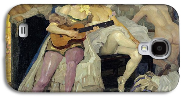 Behind The Scenes Paintings Galaxy S4 Cases - Behind the Scenes Galaxy S4 Case by Leo Putz