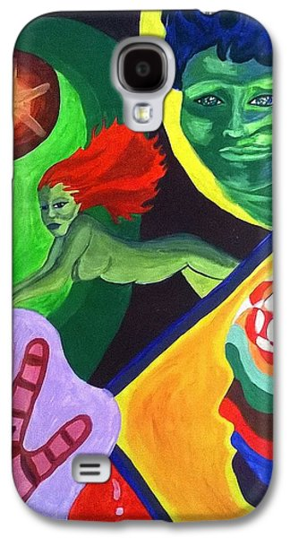 Religious Drawings Galaxy S4 Cases - Behind the Veil Galaxy S4 Case by Missy  Brage