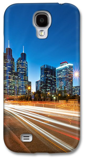 Busines Galaxy S4 Cases - Beijing Night Galaxy S4 Case by Mihai Lefter