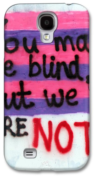 Separation Paintings Galaxy S4 Cases - Being Blind Galaxy S4 Case by Munir Alawi