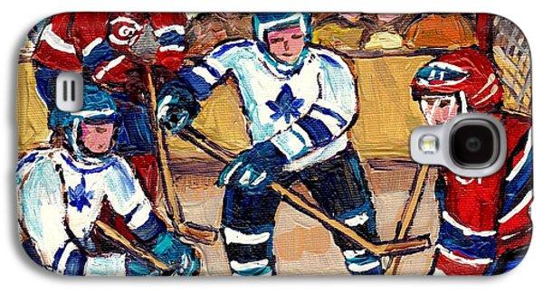 Bell Center Hockey Art Goalie Carey Price Makes A Save Original 6 Teams Habs Vs Leafs Carole Spandau Galaxy S4 Case by Carole Spandau