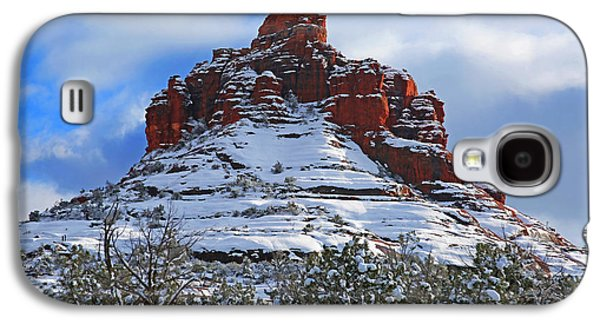 Landscapes Photographs Galaxy S4 Cases - Bell Rock With Snow 2 Galaxy S4 Case by Donna Kennedy