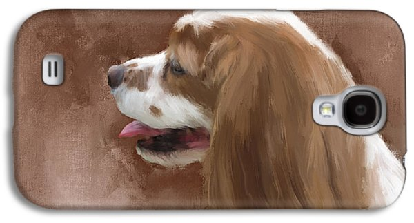 Puppy Digital Art Galaxy S4 Cases - Bella Galaxy S4 Case by Diane Chandler