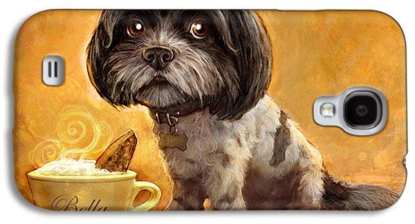 Dog Portrait Galaxy S4 Cases - Bellas Biscotti Galaxy S4 Case by Sean ODaniels