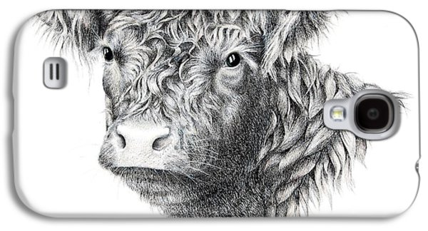 Pen And Ink Drawing Drawings Galaxy S4 Cases - Beltie Galaxy S4 Case by Sandra Moore