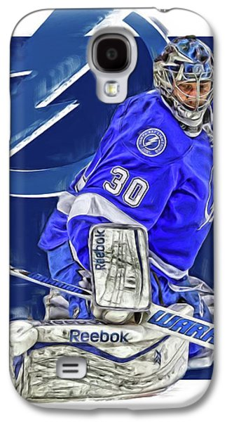 Ben Bishop Tampa Bay Lightning Oil Art Galaxy S4 Case by Joe Hamilton