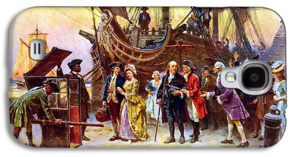 Ben Franklin Returns To Philadelphia Galaxy S4 Case by War Is Hell Store