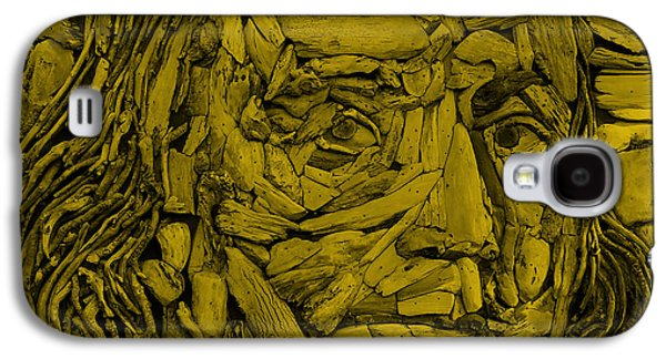 Still Life Sculptures Galaxy S4 Cases - Ben In Wood Orange Galaxy S4 Case by Rob Hans