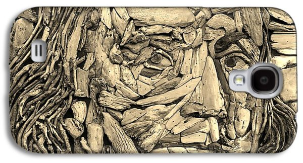 Modern Abstract Sculptures Galaxy S4 Cases - Ben In Wood Sepia Galaxy S4 Case by Rob Hans