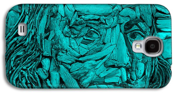 Modern Abstract Sculptures Galaxy S4 Cases - Ben In Wood Turquoise Galaxy S4 Case by Rob Hans