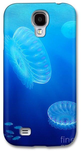 """digital Abstract"" Galaxy S4 Cases - Beneath a fractal sea Galaxy S4 Case by John Edwards"