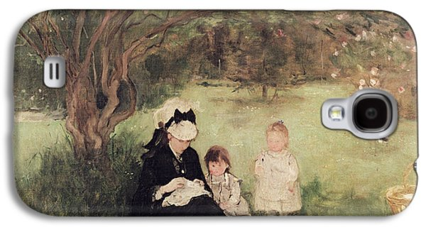 Beneath The Lilac At Maurecourt Galaxy S4 Case by Berthe Morisot