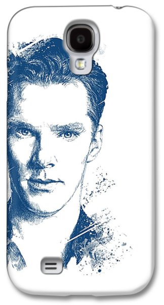 Bad Drawing Galaxy S4 Cases - Benedict Cumberbatch Portrait Galaxy S4 Case by Chad Lonius