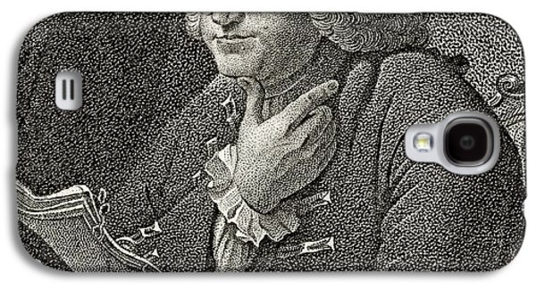 Franklin Drawings Galaxy S4 Cases - Benjamin Franklin 1706 To 1790 American Galaxy S4 Case by Ken Welsh