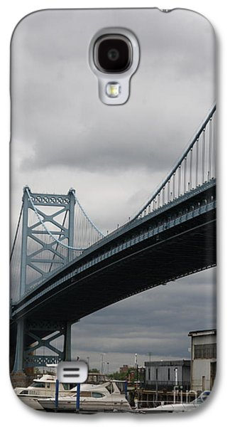 Historic Downtown Franklin Galaxy S4 Cases - Benjamin Franklin Bridge Philadelphia Galaxy S4 Case by Christiane Schulze Art And Photography