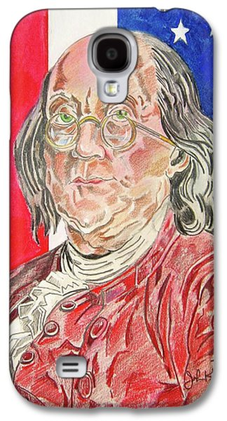 Franklin Drawings Galaxy S4 Cases - Benjamin Franklin Galaxy S4 Case by John Keaton