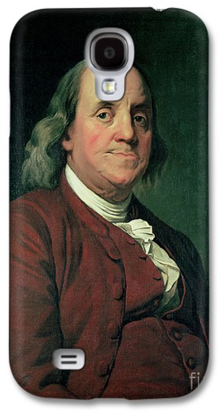 Politician Paintings Galaxy S4 Cases - Benjamin Franklin Galaxy S4 Case by Joseph Wright of Derby