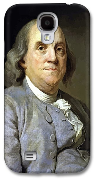4th July Paintings Galaxy S4 Cases - Benjamin Franklin Galaxy S4 Case by War Is Hell Store