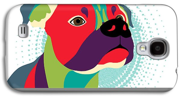 Boxer Digital Art Galaxy S4 Cases - Bennie The Boxer Dog Galaxy S4 Case by Sharon Norman