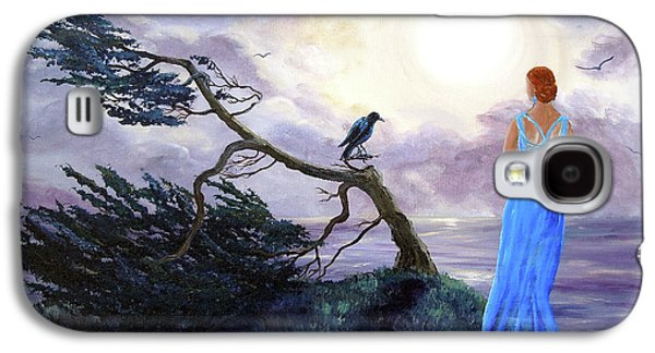 Half Moon Bay Galaxy S4 Cases - Bent Cypress and Blue Lady Galaxy S4 Case by Laura Iverson