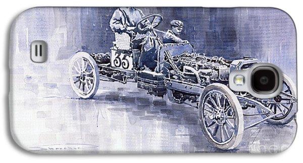 1907 Galaxy S4 Cases - Benz 60HP Targa Florio Rennwagen 1907 Galaxy S4 Case by Yuriy  Shevchuk